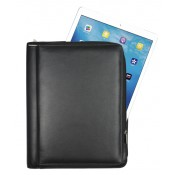 Ledermappe für iPad und Tablet PC / Reißverschlussmappe aus Vollrindleder 159988