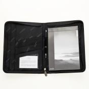 Konferenzmappe A5, hochwertiges bonded leather schwarz 157650