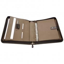 Leder-Präsentationsmappe / Ringmappe aus Rindleder 4370