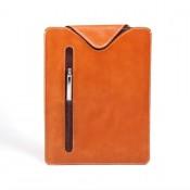 Leder-Tasche für iPad / Tablet PC - Hülle aus Vollrindleder cognac/braun 6051-5