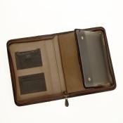 RV Mappe für Tablet PC aus Nubuk Rindsleder braun  7/6061-3