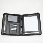 Leder-Präsentationsmappe / Ringmappe aus Nappaleder 152651 N