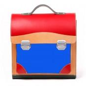 Leder-Schultasche / Anfängerranzen aus Vollrindleder