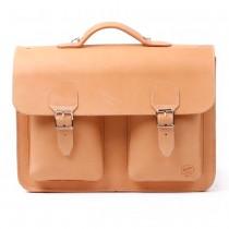 Leder-Schultasche / Schulranzen aus BIO-Naturleder 4/156 K