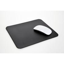 Mousepad aus Rindleder schwarz