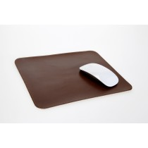 Mousepad aus Rindleder mittelbraun